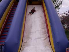 Huge blow up slide