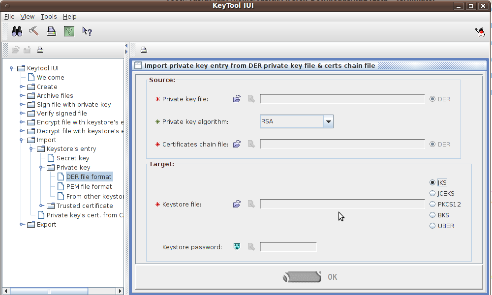 My Odyssey: How to import pem type certificate and key to java key store