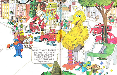 Little Golden Book Big Bird's Red Book interior artwork