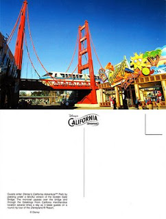 Disney's California Adventure Golden Gate Bridge postcard