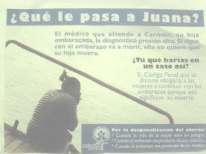 Propaganda a favor del aborto en Republica Dominicana