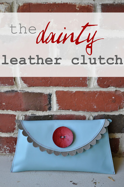 dainty leather clutch sewing tutorial