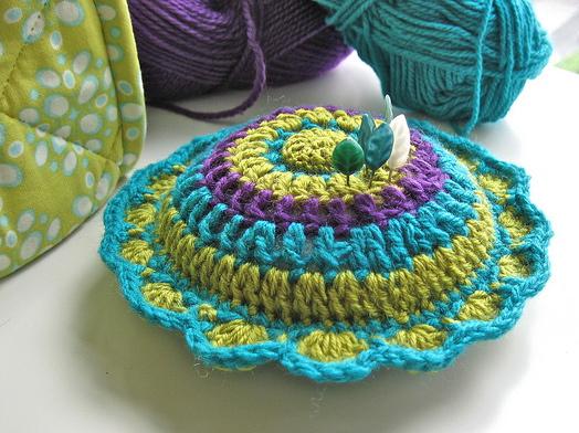 Tangled Happy Dahlia Pin Cushion