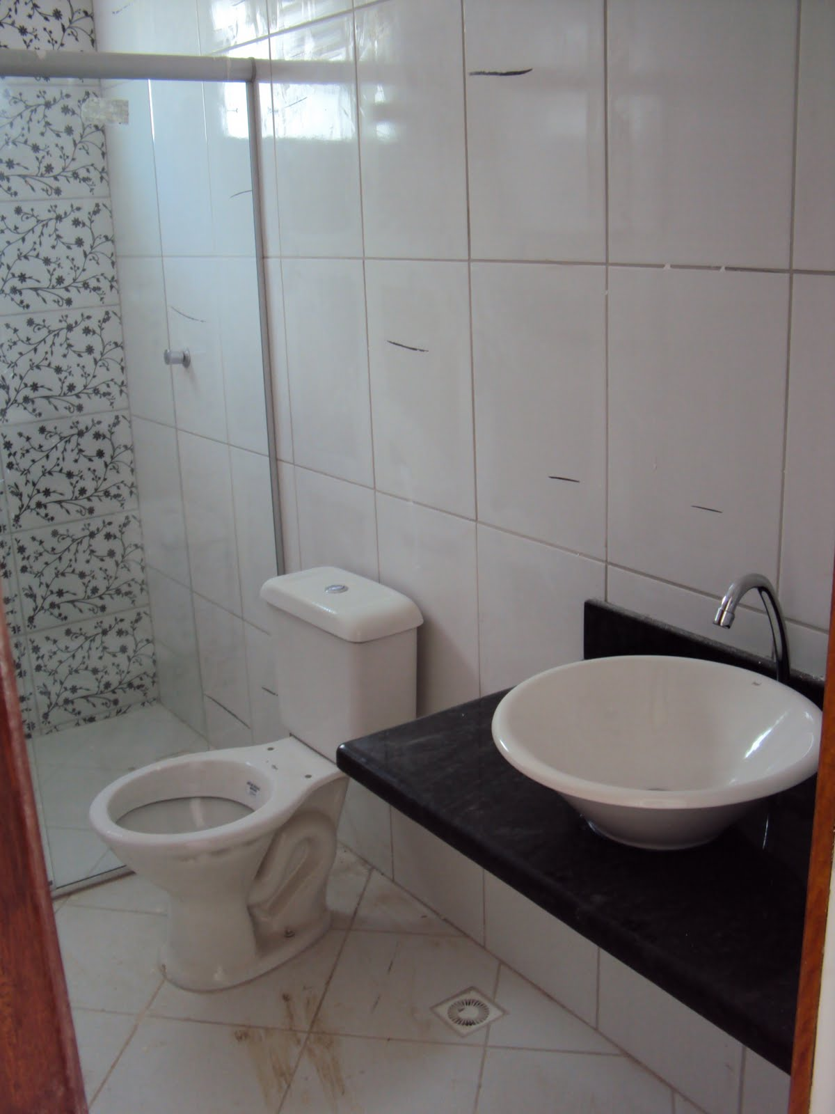 Nosso SonhoNossa Casa Banheiros das casas alheias Ai que vergonha -> Decoracao De Banheiro Com Vaso Sanitario Preto