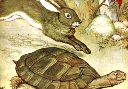 el cuento de la tortuga y la liebre: