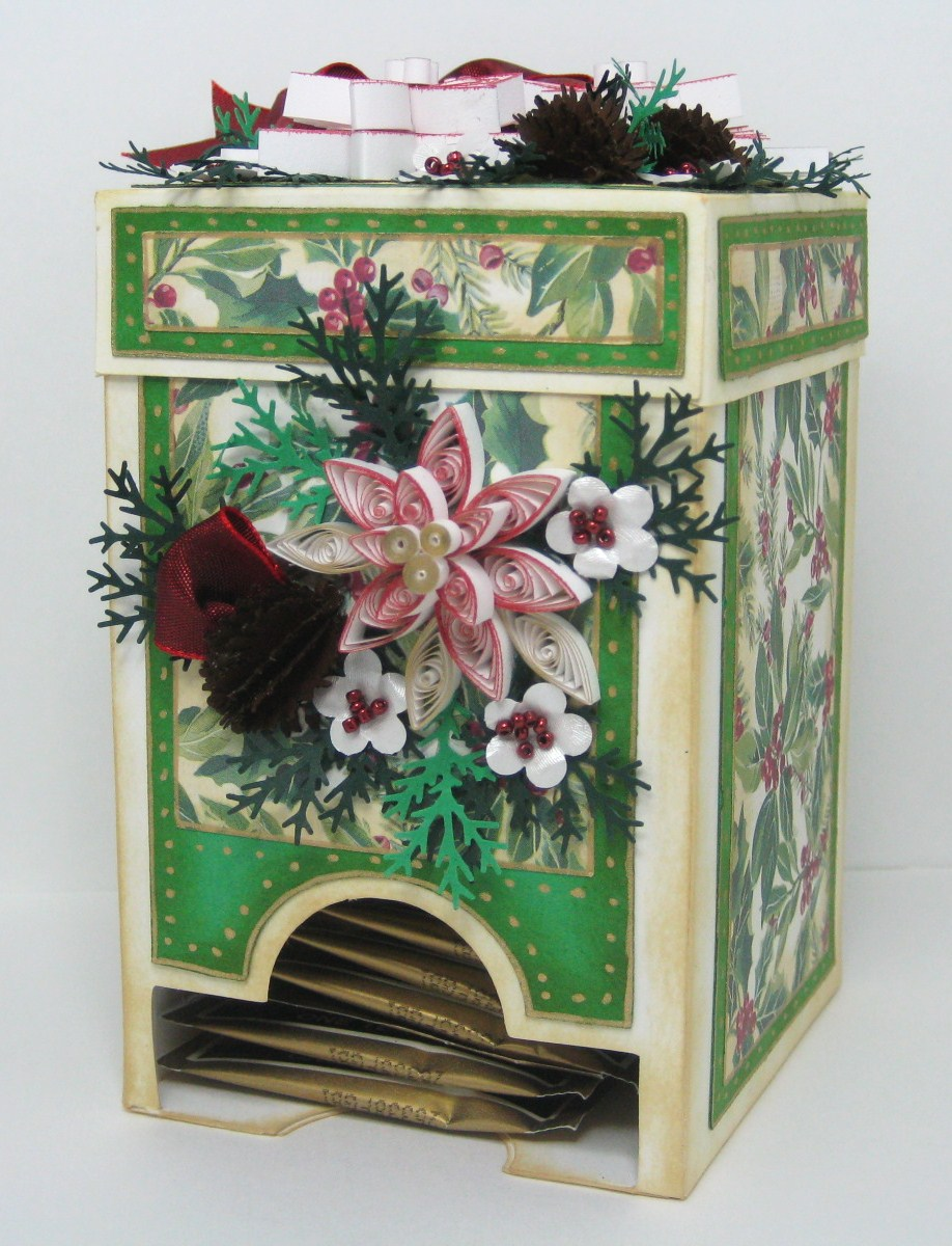 Appel Quilling Garden Quilled Tea Bag Box