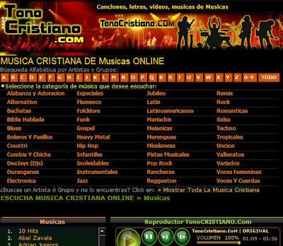 Blog Cristiano: MUSICA CRISTIANA DE Musicas ONLINE WWW