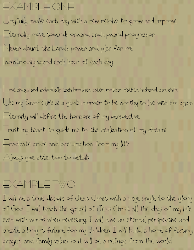 gs 101  personal creed doc   december 2010