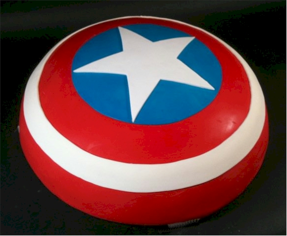 Cup a Dee Cakes Blog Captain America Shield Cake