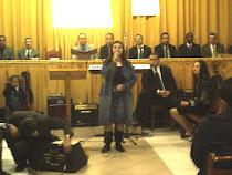 Fabiana Silva cantando na Aliança com Cristo,Cede.Festividade das irmãs.