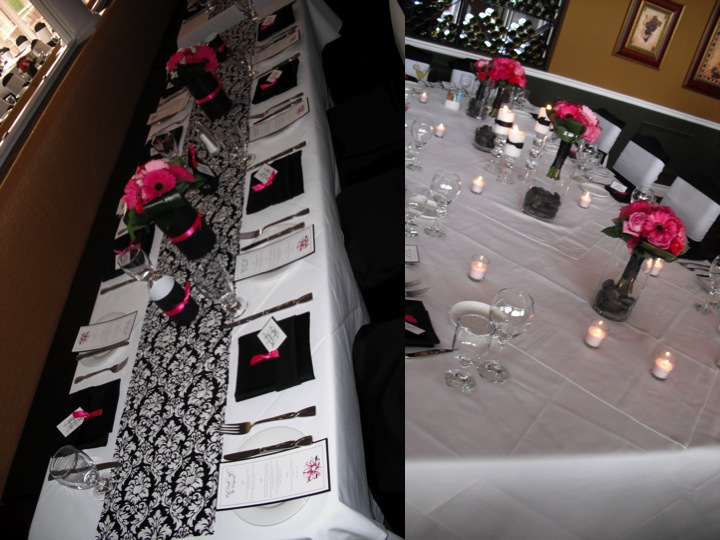 Pink Black And White Wedding Decoration Ideas : Challenge day the green eyed lady