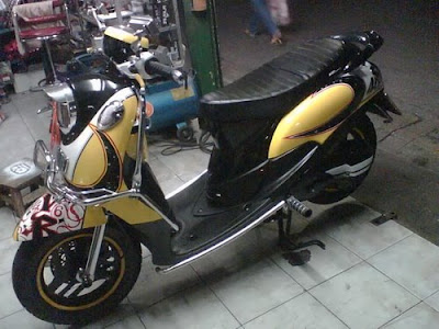 modifikasi mio fino, modified mio fino from thailand