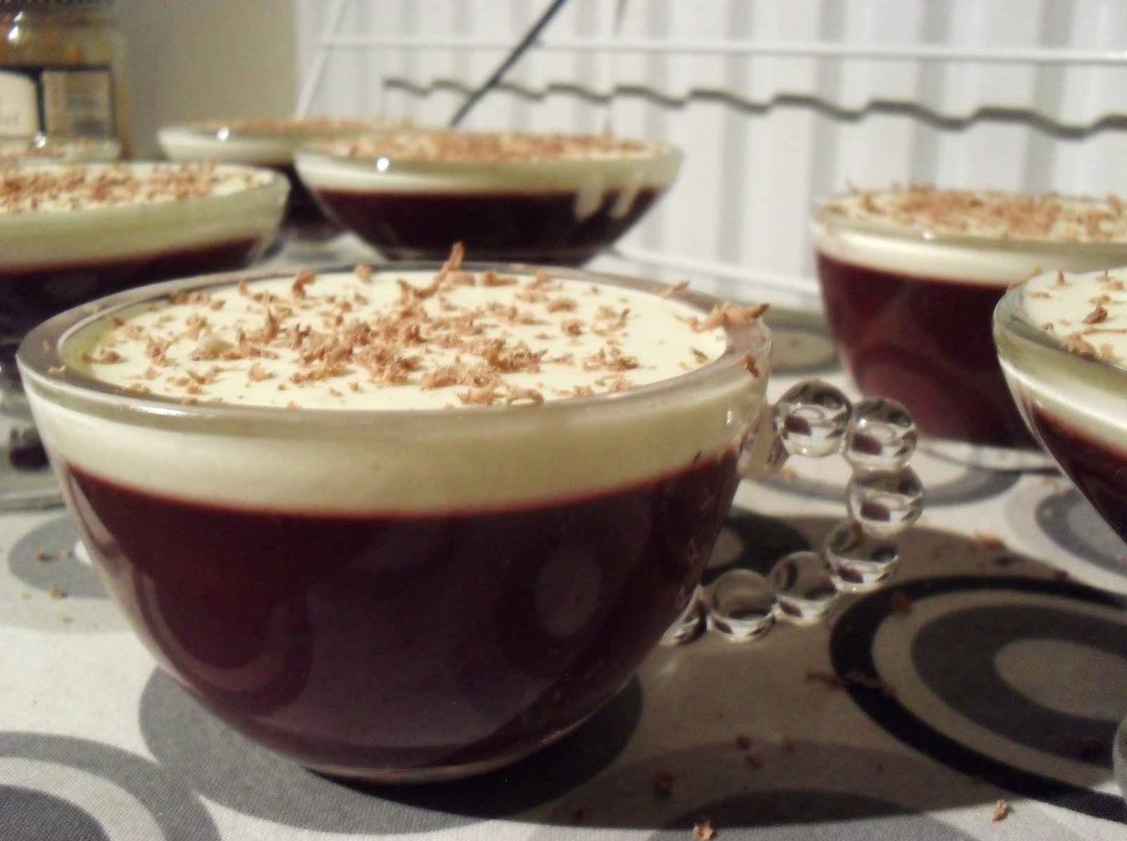 Mulled Wine Jelly Desserts | Knitting on Trains