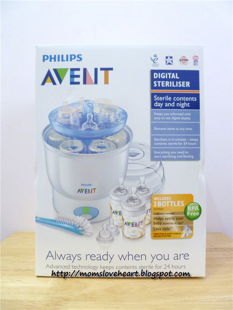 avent express electric steriliser instructions
