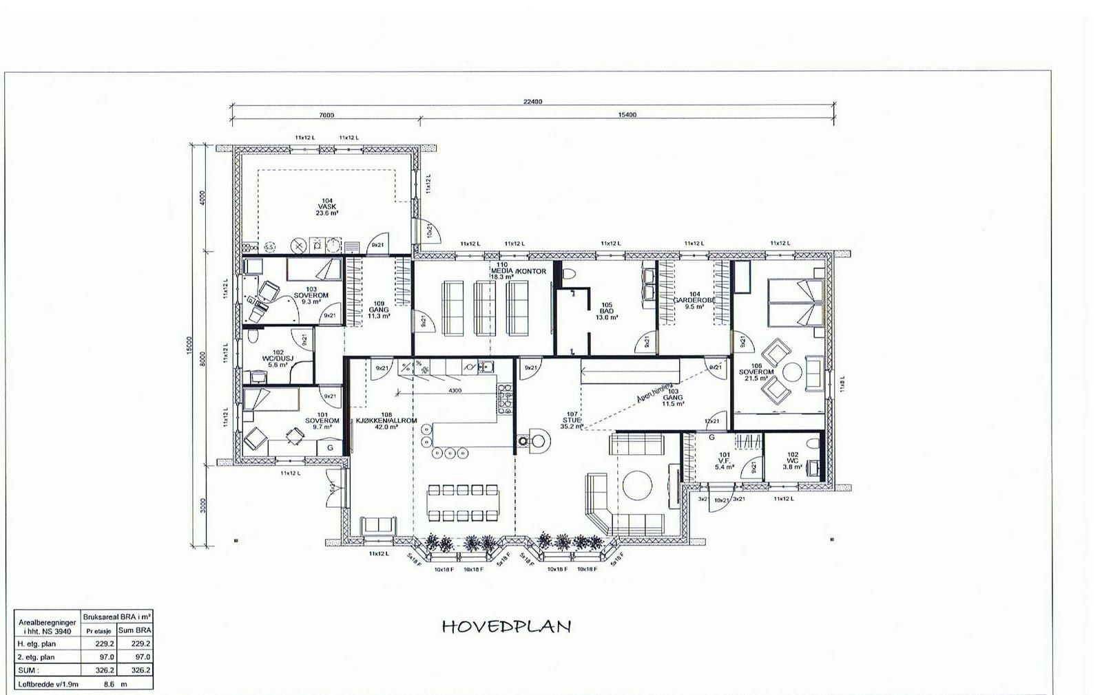 Plantegning hus kommune