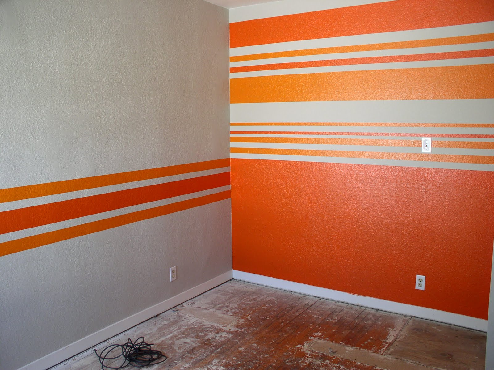 Our slo house the big reveal striped walls Paint of wall