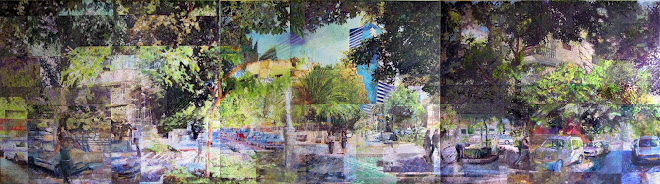 Tel Aviv quiet street. 2009 [triptych]
