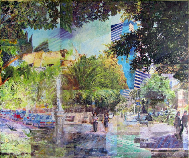 Tel Aviv quiet street. 2009 [triptych - middle panel]
