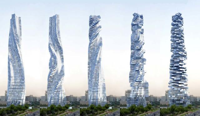 Architectural design architectural firm dubai rotating for Architecture firms in dubai