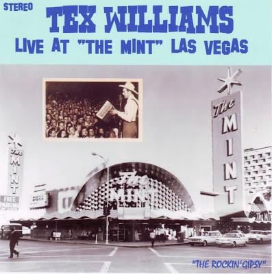 "Cover Album of TEX WILLIAMS ""LIVE AT THE MINT LAS VEGAS"""