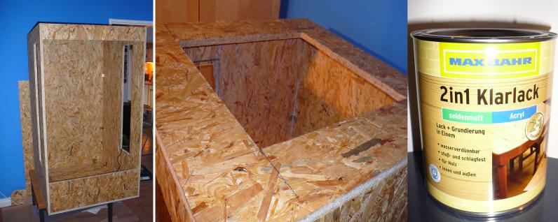 bau eines cham leon terrariums zusammenbau des holzkorpus. Black Bedroom Furniture Sets. Home Design Ideas
