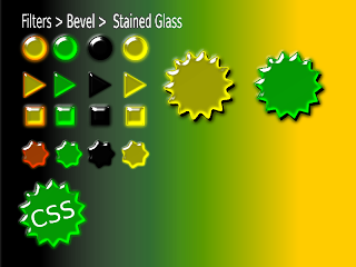 stained-glass icons