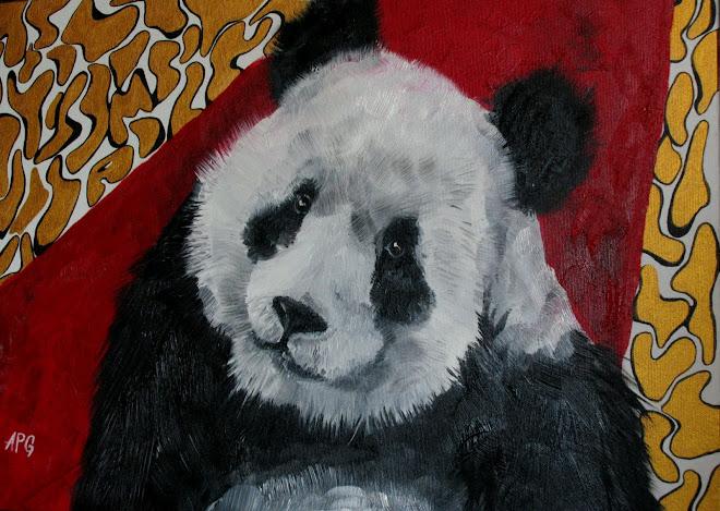 panda 65 x 50 cm