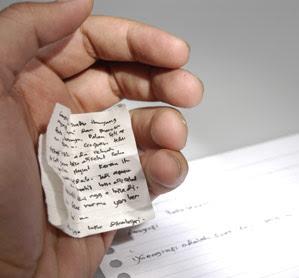 Copiar en una nota que este en la mano