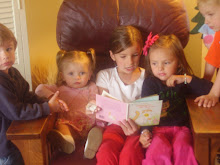sitting with the cousins reading on easter