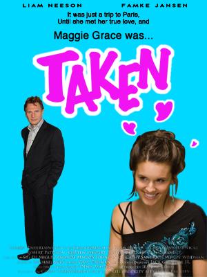 Liam Neeson Maggie Grace Taken movie poster