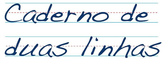 Caderno de duas linhas