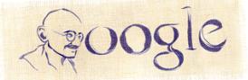 יום הולדת למהטמה גנדי גוגל לוגו