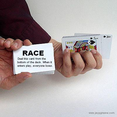 white race card