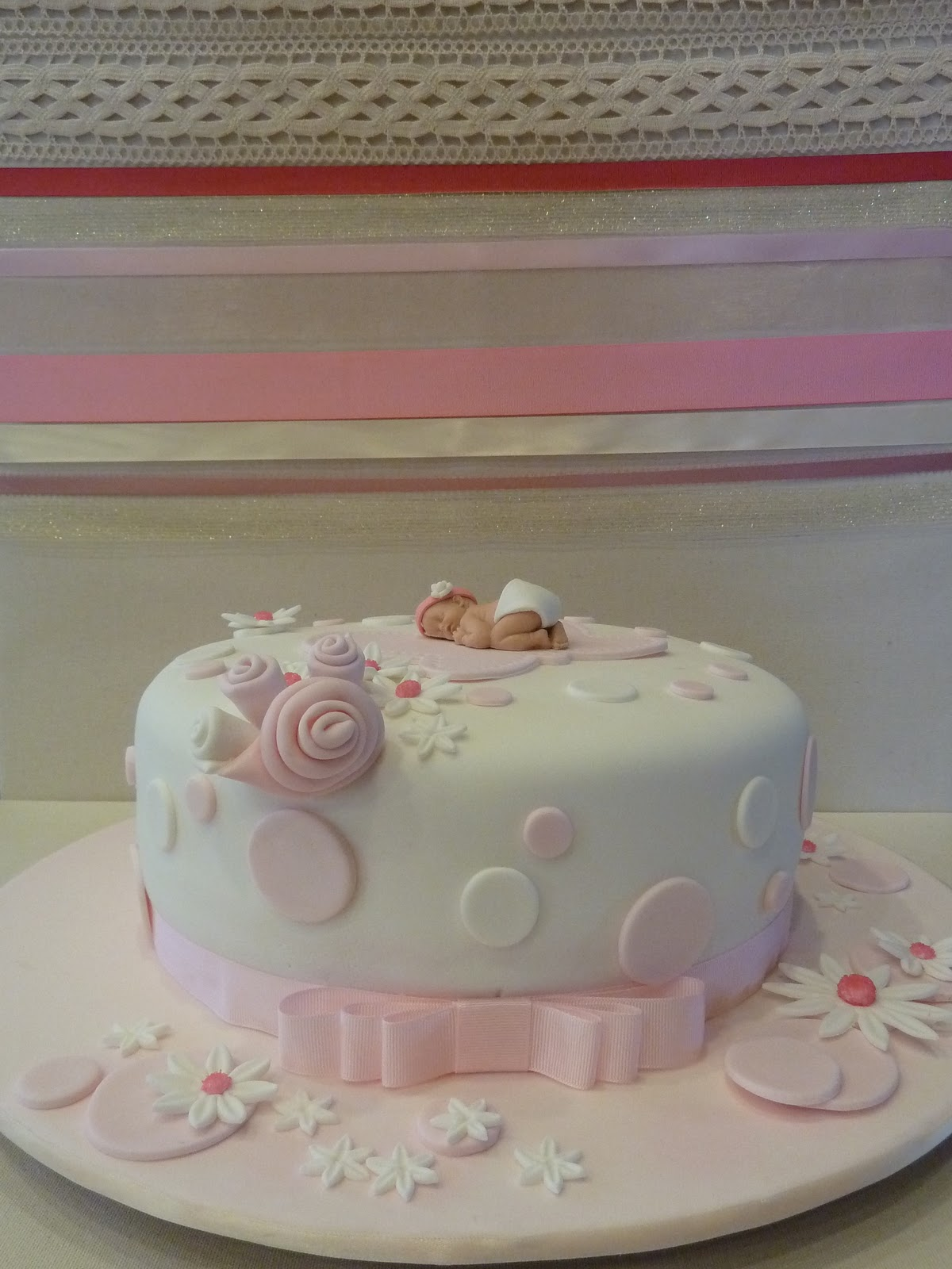 cake it easy pink baby shower cake