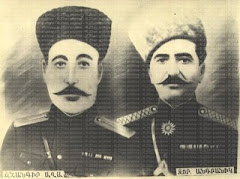 Armenia&#39;s national hero General Andranik together with the Yezidi-Kurd Cenghir Agha.