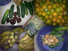 Frutas, verduras e ovos