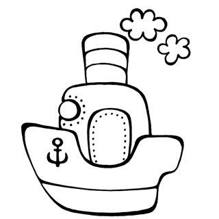 Раскрашки корабли для малышей