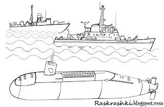 Раскраска корабля для мальчиков