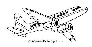 раскраска для детей самолет