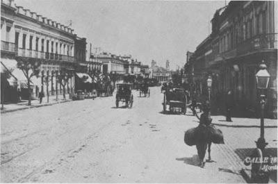 La avenida 18 de Julio en Montevideo a fines del siglo XIX