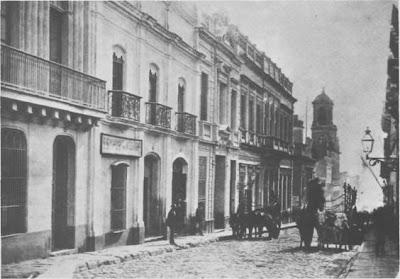 Montevideo(La ciudad vieja) a fines del siglo pasado(Calle Zavala hacia el puerto)
