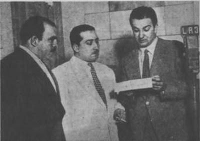 Argentino Galvan con los Cantores Hector Vargas y Carlos Vidal en 1949