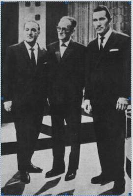 Jorge Maciel, Osvaldo Pugliese y Alfredo Belusi en 1958