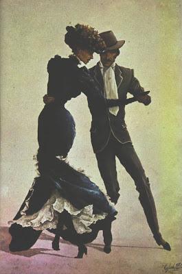 Bailarines del Centenario, óleo de Sigfredo Pastor(El Tango patrimonio Cultural de la humanidad)