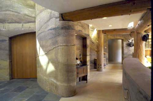 The Rammed Earth House An Interior Design