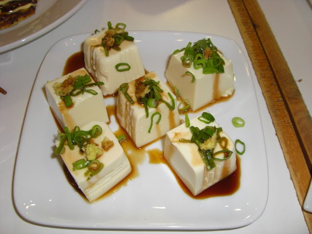 Then there was the Hiayayako: Cold Tofu in soy sauce, garnished with ...
