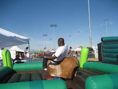 Regi riding The Bull