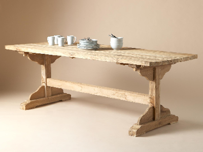 trestle dining table. Trestle Dining Table