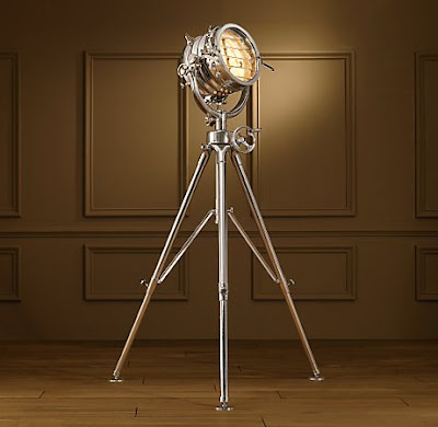 Copy cat chic restoration hardware spotlight tripod floor lamp - Tripod spotlight lamp ...