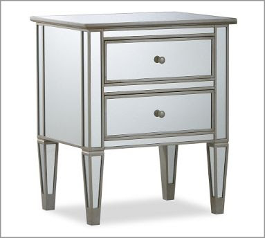 Copy Cat Chic: Pottery Barn Park Mirrored Bedside Table